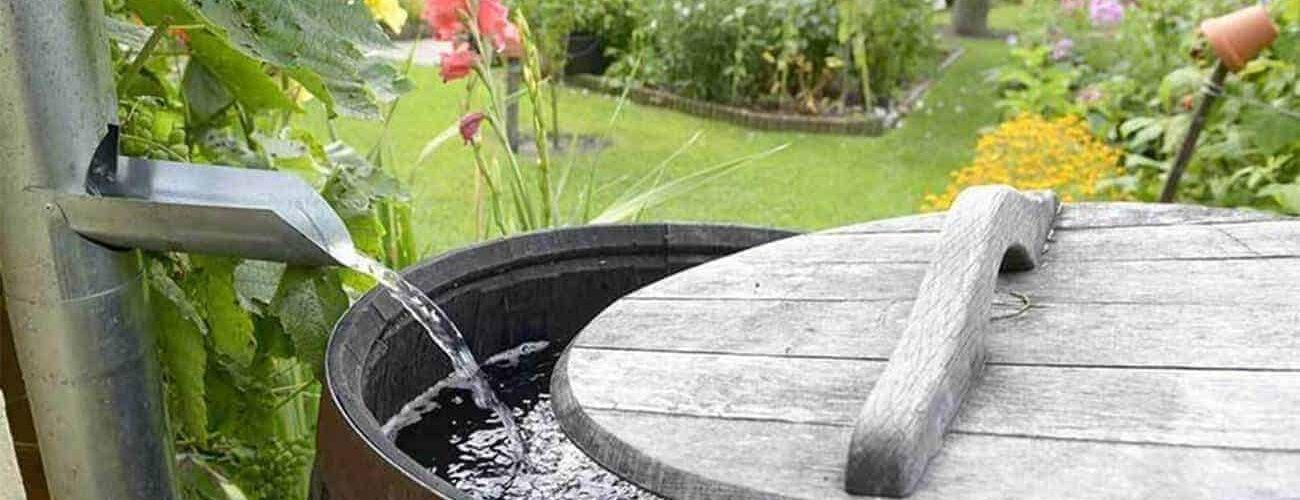 Regenton om regenwater op te vangen