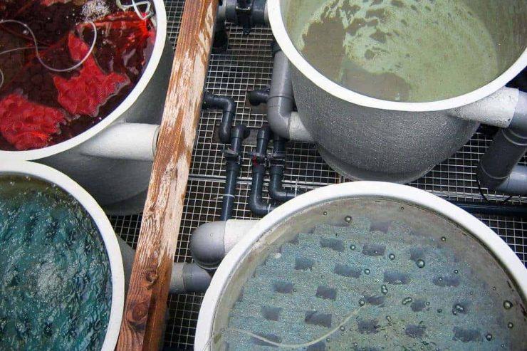 Meerkamer filtersysteem met meerdere ronde vaten